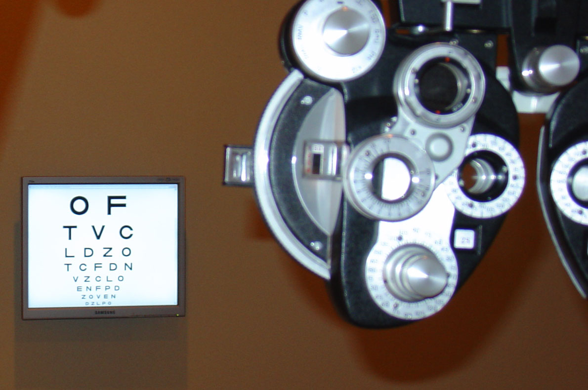 First Installation Of The Digtial Eye Chart