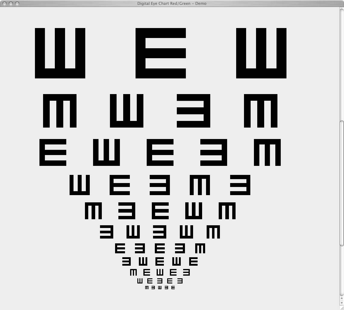 Digital eye chart what is it rolling e chart geenschuldenfo Image collections